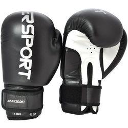 Rękawice bokserskie AXER SPORT A1320 Czarno-Biały (14 oz) - produkt z kategorii- Rękawice do walki