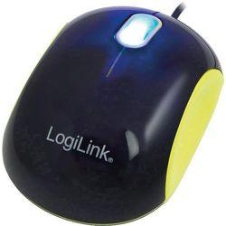 Logilink Mysz usb,  id0094a, optyczny, 1000 dpi, przewodowa, czarny, żółty
