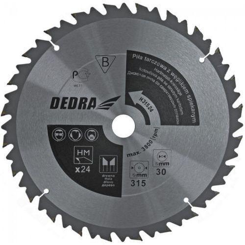 Tarcza do cięcia DEDRA HL31524 315 x 30 mm do drewna z ogranicznikiem posuwu HM - oferta [25d04f7aa77596c5]