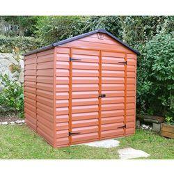 Narzędziowy domek do ogrodu SkyLight 6x8 Brązowy - Transport GRATIS! z kategorii Altany i domki ogrodowe