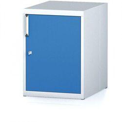 Kontener nechanic z drzwiami, szary/niebieski marki B2b partner