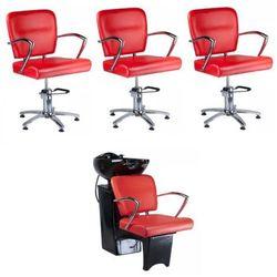 Zestaw Fryzjerski Livio Czerwony z kategorii Meble fryzjerskie