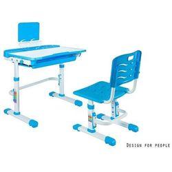 Unique sandy niebieski - biurko dziecięce + krzesełko