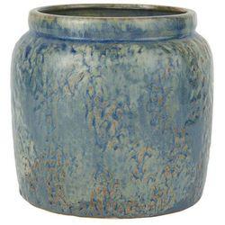 Ib Laursen - Doniczka ceramiczna Ocean Blue bez dziury średnia