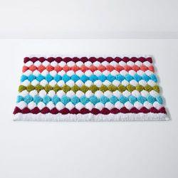 Dywanik łazienkowy, DOT, wielobarwny, bawełna (1700g/m²) - produkt z kategorii- Dywaniki łazienkowe