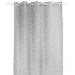 Zasłona okienna szara w srebrne gwiazdki - 140 x 260 cm marki Atmosphera créateur d'intérieur