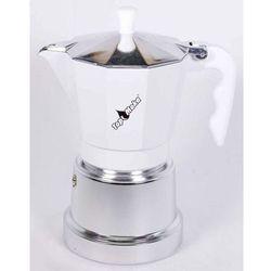 Kawiarka top 6 filiżanek - srebrno biała marki Top moka