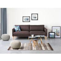 Sofa czekoladowa - kanapa - sofa tapicerowana - UPPSALA (7081452561502)