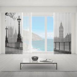 Zasłona okienna na wymiar komplet - LONDON IN GREY