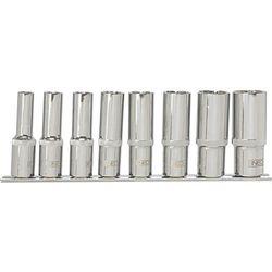 Neo Zestaw nasadek  08-650 spline długie 1/2 cala 10 - 24 mm (8 elementów)