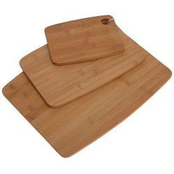 Bambusowa deska do krojenia, zestaw 3 szt.