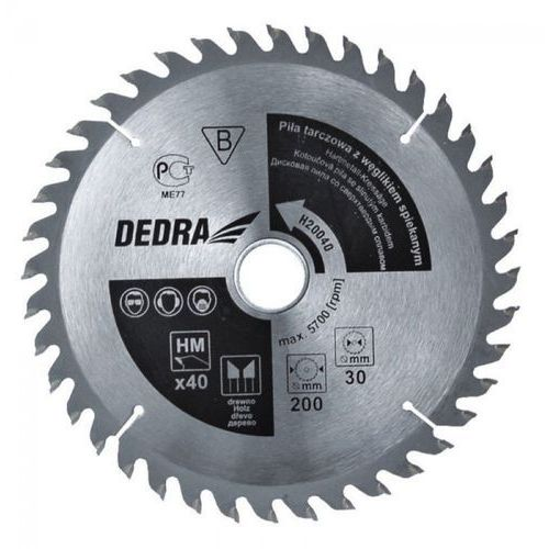 Tarcza do cięcia DEDRA H500100 500 x 30 mm do drewna + DARMOWA DOSTAWA! od ELECTRO.pl