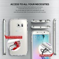 Obudowa Rearth | Etui Ringke Fusion Case + Folia ochronna | Samsung Galaxy S6 Edge | kolor Smoke Black - S