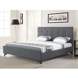 Beliani Nowoczesne łóżko tapicerowane ze stelażem 180x200 cm szare ambassador