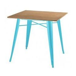 Stół TOWER WOOD niebieski - blat jesion/metal, GT-236U.BLU.JES (7812727)