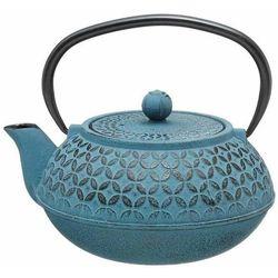 Secret de gourmet Czajniczek do herbaty z zaparzaczem wykonany w kolorze niebieskim dla miłośników herbaty.