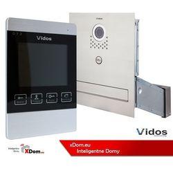 Vidos Zestaw jednorodzinny wideodomofonu. skrzynka na listy z wideodomofonem. monitor 4,3'' s551-skm_m904s