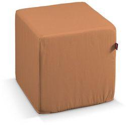 Dekoria  pufa kostka twarda, zgaszony morelowy, 40x40x40 cm, taffeta do -30%