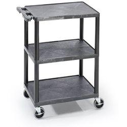 Unbekannt Wózek uniwersalny multi, dł. x szer. x wys. 610x460x840 mm, 3 piętra, czarny. od