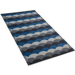 Dywan na zewnątrz szaro-niebieski 90 x 180 cm BELLARY