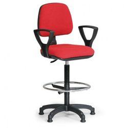 Podwyższone krzesło MILANO z podłokietnikami - czerwone