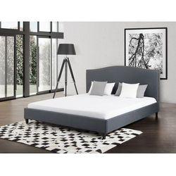 Beliani Łóżko szare - 160x200 cm - łóżko tapicerowane - montpellier