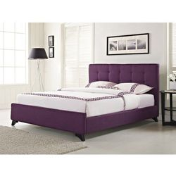 Łóżko tapicerowane w kolorze fioletowym ze stelażem 180x200 cm AMBASSADOR (łóżko)