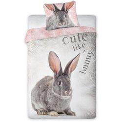 Dekoria komplet pościel wild rabbit, poszwa 160 × 200 cm, poszewka 70 × 80 cm