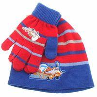 Licencja - disney Komplet jesienno-zimowy: czapka i rękawiczki planes samoloty