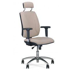 Krzesło obrotowe quatro hru r2c steel04 chrome - biurowe z zagłówkiem, fotel biurowy, obrotowy marki Nowy styl