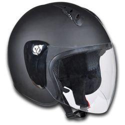 vidaXL Kask na motor, otwarty S, czarny - produkt z kategorii- kaski motocyklowe