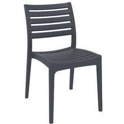 Nowoczesne krzesło ogrodowe na taras Ares Siesta antracytowe