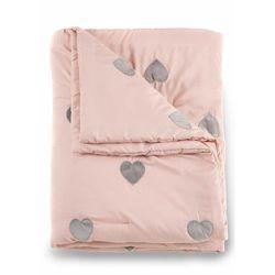 Narzuta na łóżko w serduszka jasnoróżowy marki Bonprix