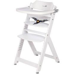 Safety 1st Wysokie krzesełko Timba z białego drewna 27624310 (3220660231515)