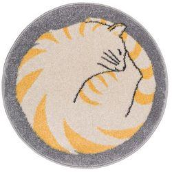 Dywan okrągły Funky Top 80 cm kotek (5901760056373)