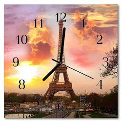 Zegar ścienny kwadrat wieża eiffla w paryżu marki Tulup.pl