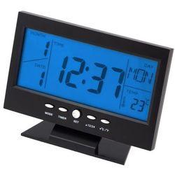Duży budzik zegar zegarek biurkowy termometr marki Apte