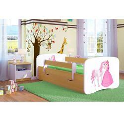 Łóżko dziecięce babydreams księżniczka i konik kolory, promocja spokojny sen marki Kocot-meble