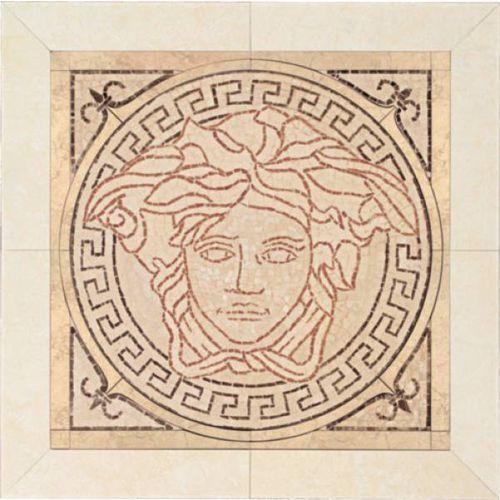 PALACE LIVING Rosoni Medusa in ceramica Rosa/Beige 41x41 (P81) (glazura i terakota) od 7i9.pl Wszystko  Dla Do
