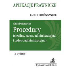 Procedury (cywilna, karna, administracyja i sądowoadministracyjna) (ISBN 9788325549831)