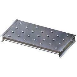 Stół kulowy, wys. konstrukcji 110 mm, szer. przenośnika 900 mm, dł. 500 mm, podz