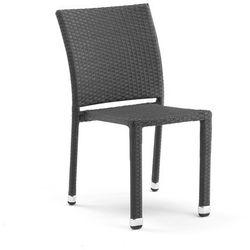 Krzesło kawiarniane z czarnego rattanu bez podłokietników - produkt z kategorii- Krzesła ogrodowe