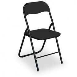 B2b partner Składane krzesła konferencyjne briefing 4+2 gratis, czarne