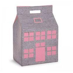 Childhome, Filcowy domek na zabawki różowy 50x35x72