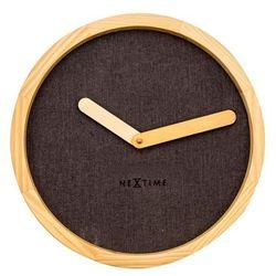 Nextime Zegar ścienny calm brązowy