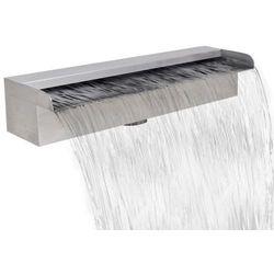 Vidaxl fontanna / wodospad do basenu ze stali nierdzewnej, prostokątny 45 cm