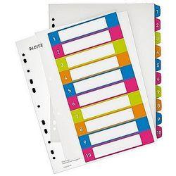 Przekładki plastikowe A4 do nadruku 1-10 Leitz WOW 12430000