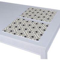 Dekoria  podkładka 2 sztuki, czarno-szare rąby na białym tle, 30x40 cm, geometric