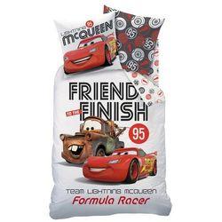 Cti  dziecięca pościel bawełniana cars formula racers, 140 x 200 cm, 60 x 80 cm