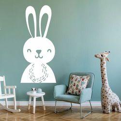 Naklejka welurowa dla dzieci zajączek 2491 marki Wally - piękno dekoracji